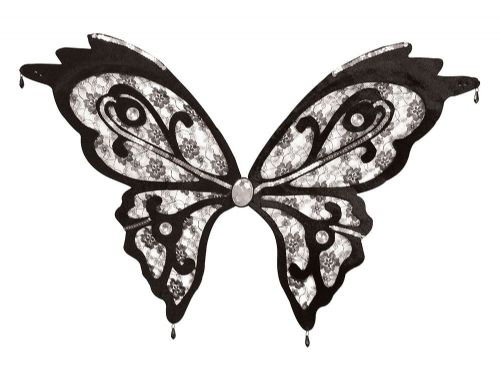 Butterfly Wings Black Lace Caterpillar Bug Insect Animal Fancy Dress